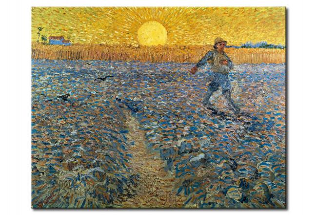 Riproduzione Quadro Seminatore Al Tramonto Vincent Van Gogh Quadri Famosi