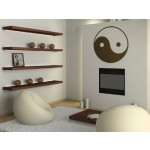 Wall sticker Yin and yang 57689 additionalThumb 2