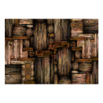 Photo Wallpaper Wooden puzzle 97099 additionalThumb 1
