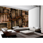 Photo Wallpaper Wooden puzzle 97099