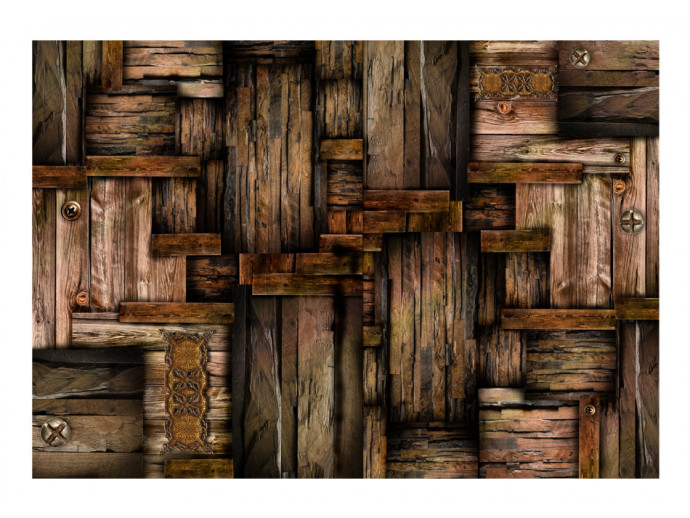 Photo Wallpaper Wooden puzzle 97099 additionalImage 1